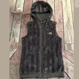 THE NORTH FACE Furlander Faux Fur Vest Hooded
